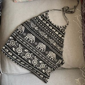 Urban Outfitters Cropped Halter Top (L)